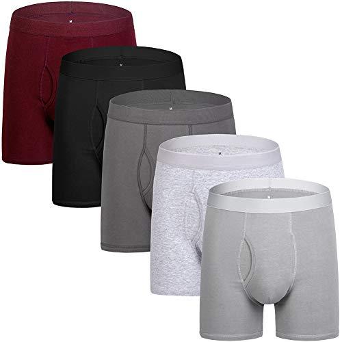 Men's Underwear Boxer Briefs Cotton Spandex Breathable Mens Boxer Briefs Boxer Shorts for Men Pack of 5 XL