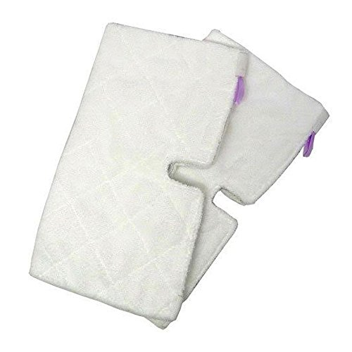 Replacement RECTANGLE Cleaning Pads (2-pack) for Euro-Pro Shark Mop S3501 by ZVac