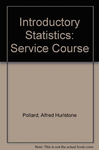 Introductory statistics: A service course