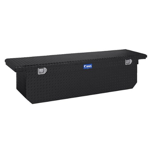 UWS TBSD-69-LP-BLK Black Single Lid Low Profile Deep Aluminum Toolbox with Beveled Insulated Lid