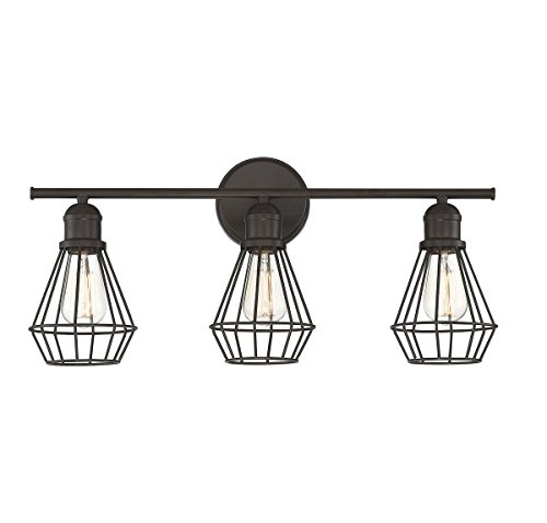 Trade Winds Lighting 3-Light Bath Bar in Oil Rubbed Bronze