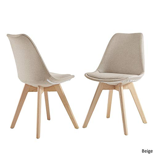 - Inspire Q Arlo Light Oak Linen Upholstered Dining Chairs (Set of 2) by Modern Beige