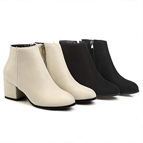 América Xdx Y Calientes Pulir Cremallera Tamaño Zapatos martin Europa Botas 36 Gran 45 Mujer Botas zapatos Señoras zapatos Puntiagudos De Iqxw4rqzX