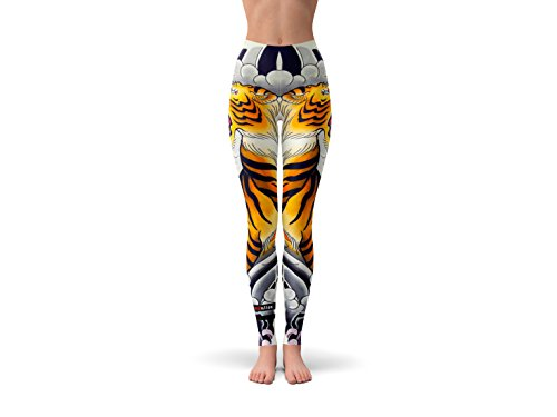 Ethnic Revolution Breathe Easy Stretchy & Comfy Yoga Pants, Dance Leggings, Workout Gear, Crossfit Pants, and Tights For All Sizes From x Small- XX Large. Tiger Design (Medium) Review