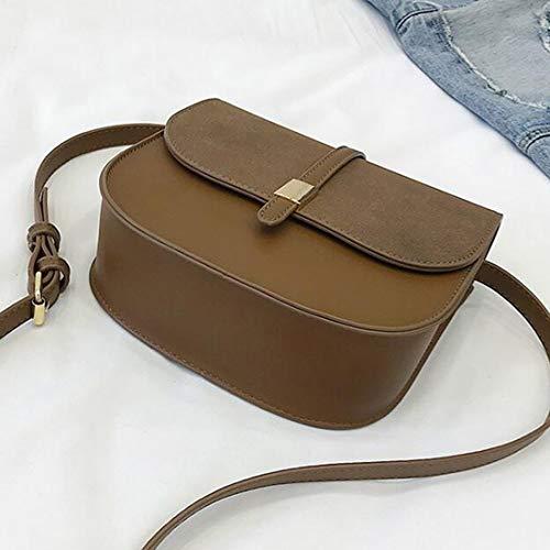 Capacité Femmes À Sac Bandoulière Brown Pu Grande color Pour Anglayif Mini Beige Cuir En qSfE8