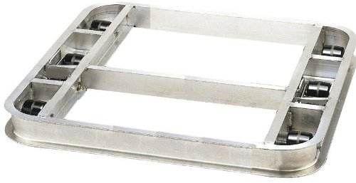 Pallet Dollie 36''x42'' Reinforced Aluminum 6 Phenolic Rollers Flat Rolling 4000#