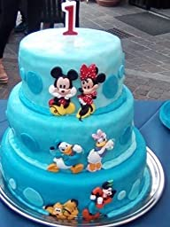 Set Soggetti Disney In 2d Per Decorazione Torte 6 Pz
