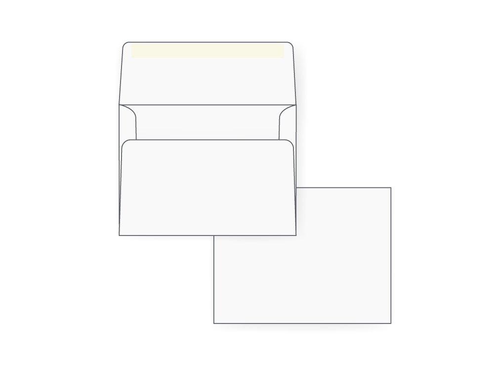 A2 Invitation Envelope - 24# White (4 3/8 x 5 3/4) - Announcement Envelope Series (Box of 500)