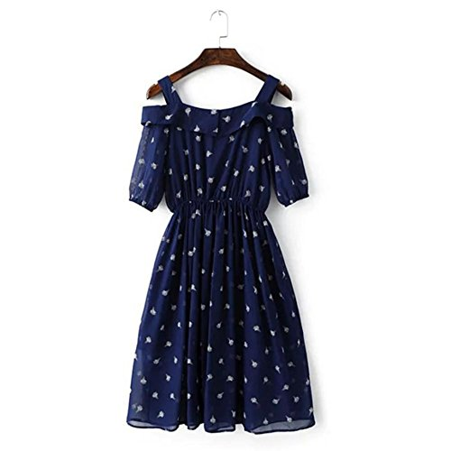 Rock figure Strap Eis Damen Casual blau Print Sommer Fashion as Dresses xw1vTqa