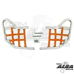Yamaha Blaster Pro-elite Standard Nerf Bars Silver w/ Orange Net