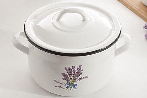 Olla con Lidl 3,5 L esmalte/acero inoxidable de la lavanda: Amazon.es: Hogar
