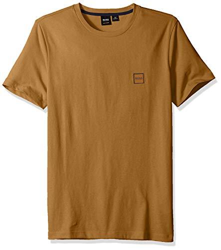 BOSS Orange Men's Tales Basic T-Shirt with Logo, Rust/Copper Large