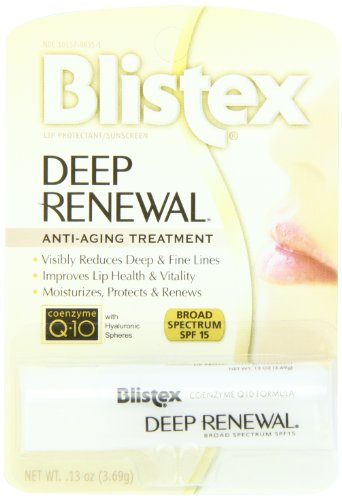 Blistex Deep Renewal, Anti-Aging Treatment, Net Wt. .13-Ounce tube (Pack of 12) ( Pack May Vary )
