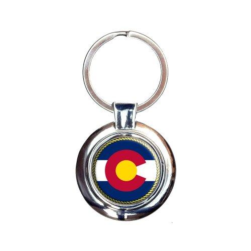 Colorado State Flag Keychain Key Ring