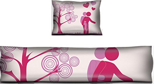Luxlady Mouse Wrist Rest and Keyboard Pad Set, 2pc Wrist Support love design over pink landscape background vector illustration IMAGE ID 26423176