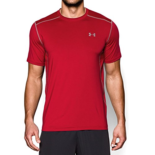 Under Armour Men's Raid Short Sleeve T-Shirt, Red (600)/Steel, X-Large