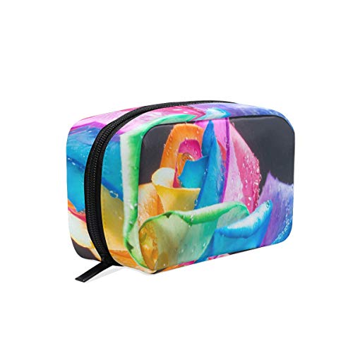 It Bag Avon The (Cosmetic Bag Rainbow Roses And Water Drops Girls Makeup Organizer Box Lazy Toiletry Case)