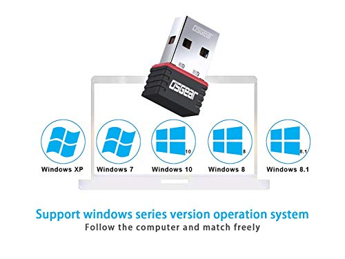 OSGEAR USB WiFi Adapter 150Mbps Wireless Network Card Dongle for PC Laptop Desktop Computer 2.4GHz Band 802.11N Mini Receiver Stable Speed with Windows 10 8 7 XP Vista Mac Linux Driver Support
