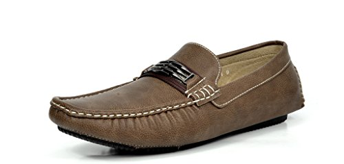 BRUNO MARC MODA ITALY KENDO-01 Men's Classy Fashion On The Go Driving Casual Loafers Boat shoes Brown Size 15