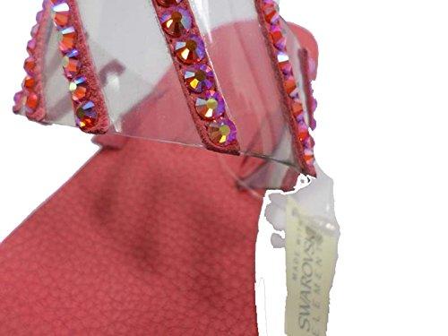 EDDY Gamuza Cristales Mujer 37 Plástico Sandalias AW463 Rojo EU Swarovski DANIELE rnrWq8YaR