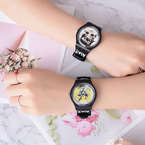 Cool Boys Girls Letters Cat No Numbers Analog Quartz Silicone Band Wrist Watch by Gaweb (Image #3)