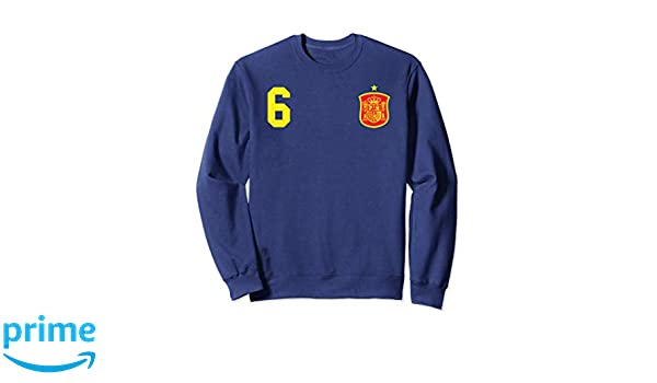 Amazon.com: Retro Spain Soccer Jersey Espana Sweatshirt Camiseta Futbol: Clothing