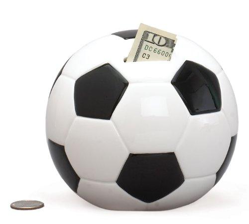 Soccer Shape Piggy Bank For Saving Money And Sports Decor Burton & Burton 975645