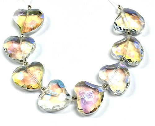 03n Supply - Linpeng Opal Faceted Curvy Heart Beads Strand, 7-Inch