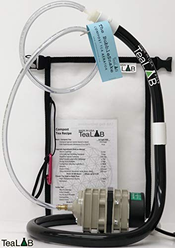 Compost Tea Kit: 5 Gallon Get Brewing Special~ BubbleSnake, Bag, Air Pump & Tubing (714GPH Air Pump)