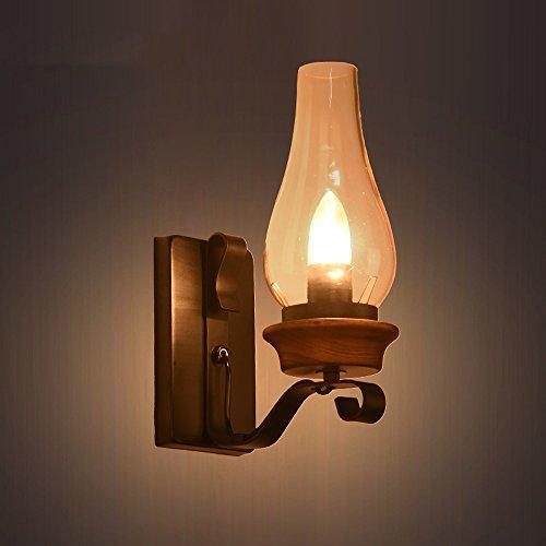 Rustique Murale Américain Noilyn Simple Rétro Vintage Tête Lampe sthCQrd