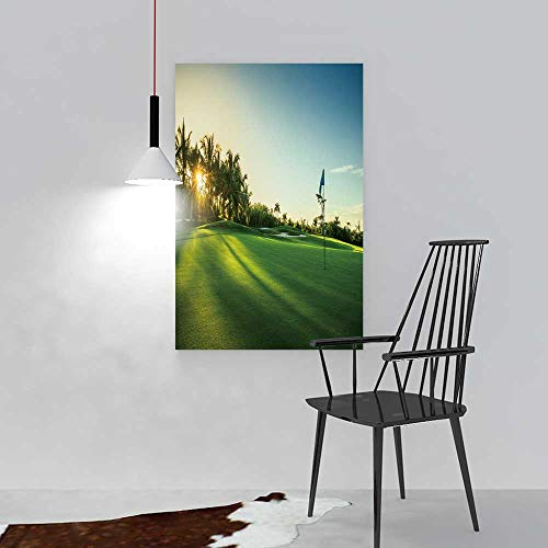 aolankaili Art The Picture for Home Decoration Frameless Golf Course in The Countryside Art for Home Decorations Wall Decor W20 x H28 -