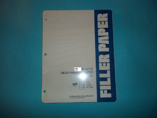 National 14-289 Double Entry Ledger Sheets 25 Sheets Heavyweight 11'' x 8 1/2'' Made in USA by National Blank Book Company