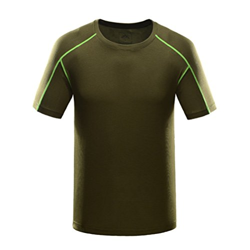 Mens Outdoor Lightweight Sports Performance Crew Neck Quick Dry T Shirt