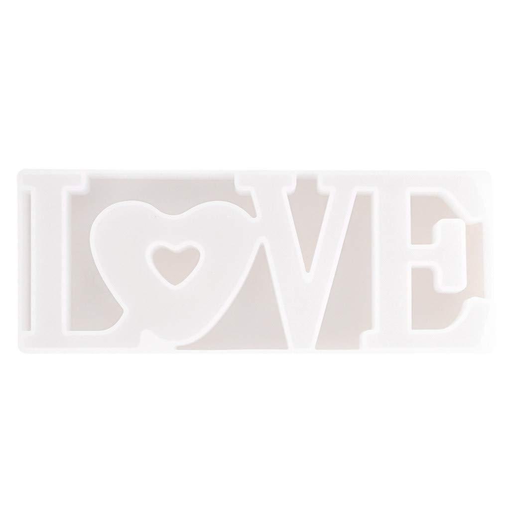 Regalo de San Valent/ín FBGood decoraci/ón de Mesa de Bricolaje Molde de s/ímbolo de Amor para la Resina epox/ídica Boda Molde de Silicona con Forma de coraz/ón de Cristal epoxi Love de Silicona