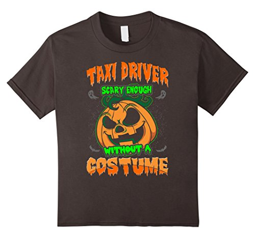 Taxi Driver Costume For Kids (Kids Taxi Driver Scary Enough Without Costume Halloween Tshirt 12 Asphalt)