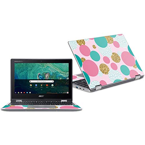 """Price comparison product image MightySkins Skin Compatible with Acer Chromebook Spin 11"""" CP311 - Golden Bubbles / Protective,  Durable,  and Unique Vinyl Decal wrap Cover / Easy to Apply,  Remove,  and Change Styles / Made in The USA"""