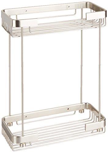 Allied Brass BSK-60DR-SN Double Tier Rectangular Toiletry Shower Basket, Satin ()