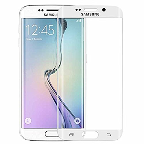 Oudu Galaxy S6 edge ガラスフィルム Samsung S6 edgeフィルム au SCV31 / docomo SC-04G 保護フィルム 強化 気泡ゼロ 0.3mm硬度9H ギャラクシー S6 エッジ フィルム 飛散防止 指紋防止 高感度タッチ 耐衝撃 Samsung Galaxy S6 edge 液晶保護フィルム-ホワイト