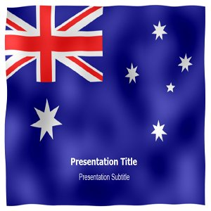 Australia Animated Flag Powerpoint Templates - Australia Animated Flag PPT Backgrounds and Slides