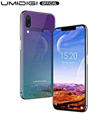 "UMIDIGI One Pro Mobile Phone Unlocked Dual 4G VoLTE Smart Phone 5.9"" HD+ Display 19:9 Android 8.1 Face Unlock Side Fingerprint Scanner 4GB RAM +64GB ROM"