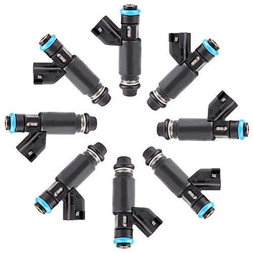 OCPTY 8pcs 4 Holes Replacement Fuel Injectors Engine Part fit for Chevrolet Avalanche Express Silverado Suburban 1500/Silverado 1500 Classic/Tahoe,GMC Savana Sierra 1500/Yukon/Yukon XL 1500,12580426