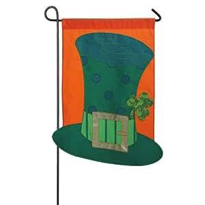 Luke Of The Irish Applique Garden Flag