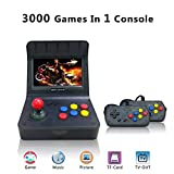 """Retro Game Console for Game Player, Handheld Game Console ,Video Game Console 16GB 4.3"""" Full View TFT Screen 3000 Classic Games ,Support Transplant games /Arcade games/CP1/CP2/GBA/SFC/MD (Black)"""