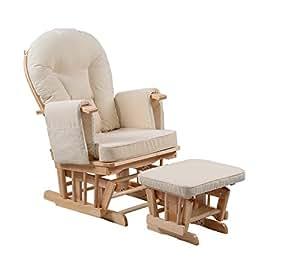 Silla de maternidad Serenity Nursing Glider con reposapiés… (Natural)