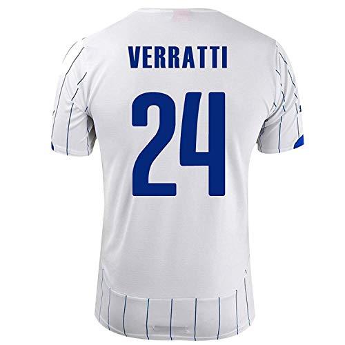 発見説教結婚PUMA VERRATTI #24 ITALY AWAY JERSEY WORLD CUP 2014/サッカーユニフォーム スペイン代表 レプリカ?アウェイ用 ワールドカップ2014 背番号24 ヴェッラッティ