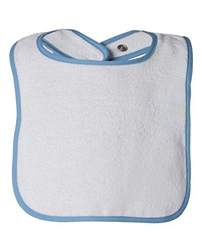 (Rabbit Skins Infants'Terry Snap Bib OS White/Light Blue)