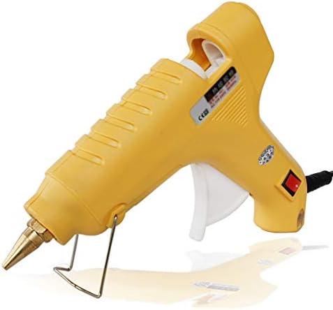 ビズアイ DIY家庭や手工芸品、子供の大人の家族の芸術の創造、黄色のために使用されるホットメルトグルーガン、60Wミニハイパワー、ステンレス鋼ブラケット、高速で加熱、 ホットグルーガン (Color : Yellow)