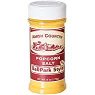 Amish Country Popcorn | 6 Oz BallPark ButterSalt | Old Fashioned with Recipe Guide - Nut Free (6oz)