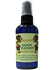 Ja'Mi Dragon Earth Element Aromatherapy Body Mist & Room Spray |Made with 100% Natural & Pure Essential Oils in this Proprietary Blend of Geranium & Cedarwood (2 oz) Manifest Wealth & Abundance | Reike and Energy-Infused Spray- 100% SATISFACTION GUARANTEED!