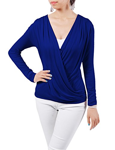 H2H Womens Crossover V neck Ruched